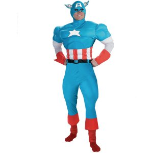Captain America Deluxe Muscle Costume (Marvel Comics)