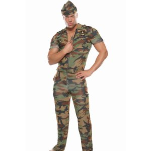 Sexy Camo Sergeant Gay Halloween Costume