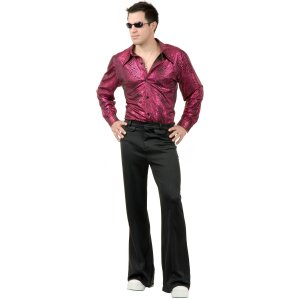 Disco Shirt – Liquid Red & Black Snake Skin Print