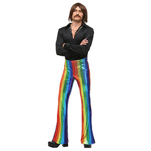 Disco King Costume with Rainbow Pants