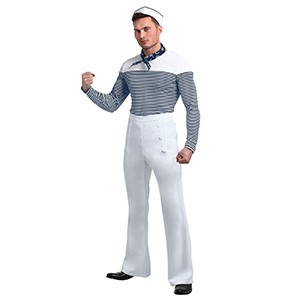 Men's Sexy Vintage Sailor Halloween Costume